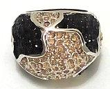 """Кольцо-перстень """"Черный бриллиант"""", фото 2"""