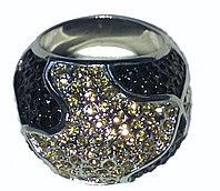 """Кольцо-перстень """"Черный бриллиант"""""""