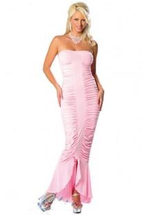 """Длинное платье """"Русалка"""" цвета чёрный и розовый."""