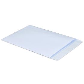 Конверты С4, 229x324мм., 90г/м2, белый, отрыв.полоса по короткой стор.