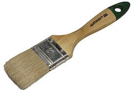 """Кисть плоская STAYER  """"UNIVERSAL-EURO"""", светлая натуральная щетина, деревянная ручка, 63мм"""