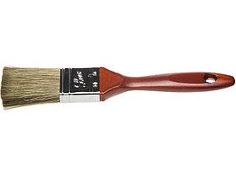"""Кисть плоская STAYER """"LASUR - LUX"""", деревянная ручка, смешанная щетина, 38мм"""