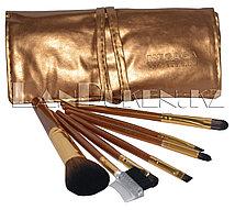 """Набор профессиональных кистей для макияжа """"MEGAGA PROFESSIONAL"""" (7 штук в наборе, золотой чехол)"""