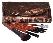 """Набор профессиональных кистей для макияжа """"MEGAGA PROFESSIONAL"""" (7 штук в наборе, бронзовый чехол)"""