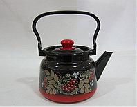 Чайник 2,3 л декор красно-черный с кнопкой С2714.38