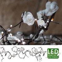 Гирлянда светодиод Белая роза 2,25м 16диодов 581-23
