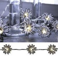Гирлянда светодиод Цветы серебр. 4м 20диодов