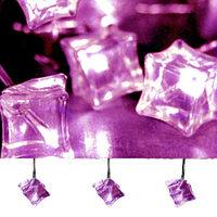 Гирлянда светодиод. Льдинки фиолет. 3,8м 462-04