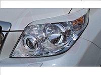 Накладки на фары (реснички) Toyota Landcruiser Prado 150, фото 1