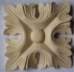 Декоративный элемент квадратный цветок (80*80) F - 90.