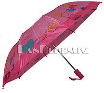 Зонт детский Свинка Пеппа складной розовый
