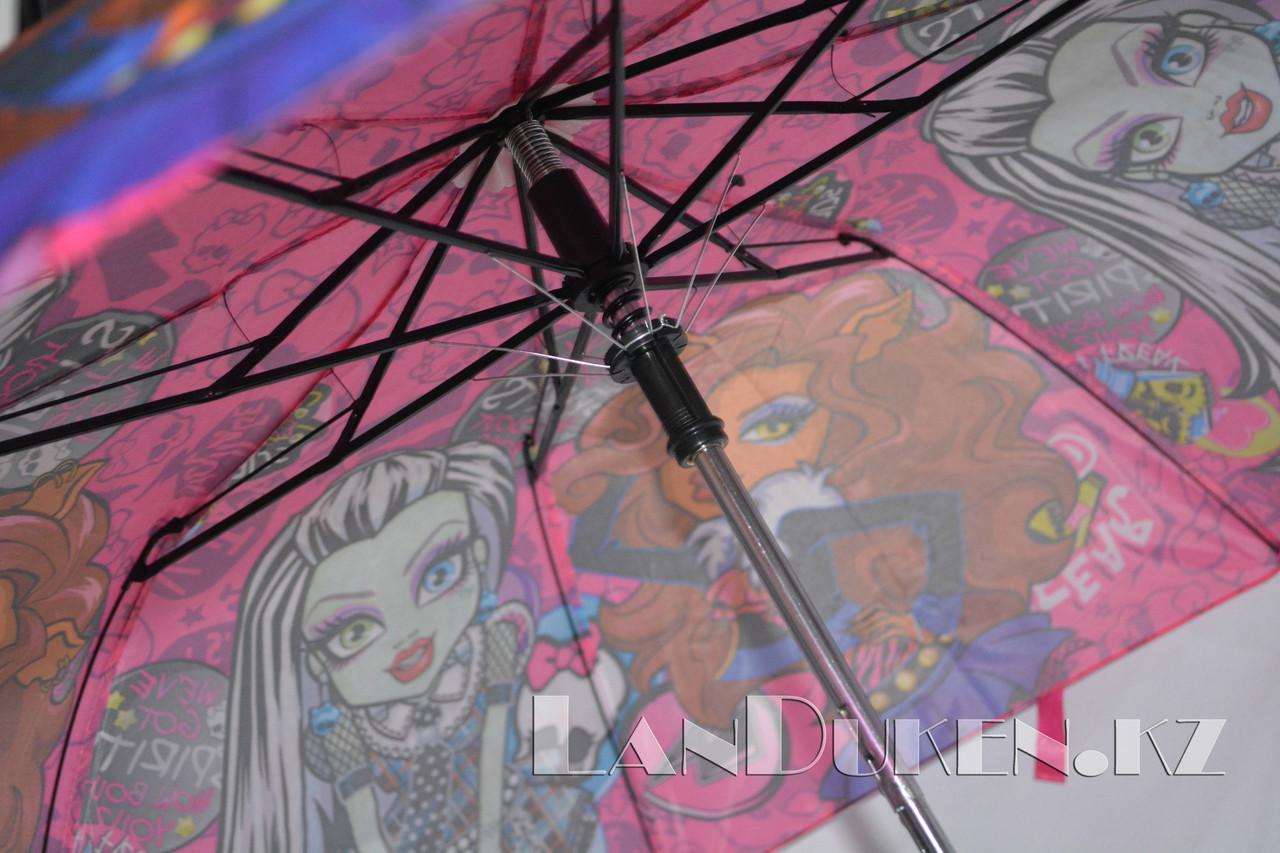 """Детский складной зонтик """"Монстр хай"""" (розовый) - фото 4"""