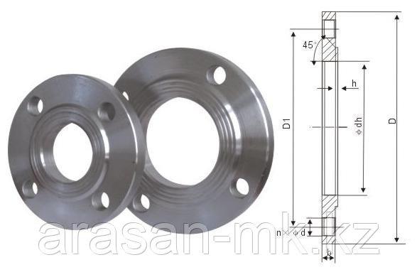 Фланцы стальные приварные РУ10 Ду150 ГОСТ 12820-80