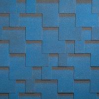 Гибкая черепица SHINGLAS (ШИНГЛАС): серия УЛЬТРА, коллекция Джайв, цвет синий.