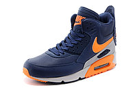 Зимние кроссовки Nikе Air Max 90 Sneakerboot Navy Blue Orange Grey (40-45), фото 2