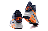 Зимние кроссовки Nikе Air Max 90 Sneakerboot Navy Blue Orange Grey (40-45), фото 4