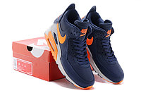 Зимние кроссовки Nikе Air Max 90 Sneakerboot Navy Blue Orange Grey (40-45), фото 5