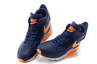 Зимние кроссовки Nikе Air Max 90 Sneakerboot Navy Blue Orange Grey (40-45), фото 3
