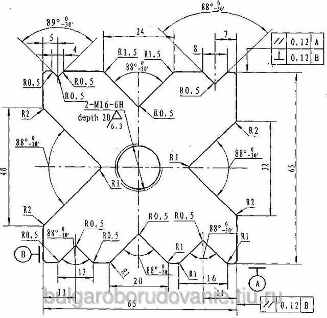 Матрица (призма) для листогибочного пресса 65х65х2500