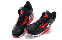 Зимние кроссовки Nike Air Max 90 Sneakerboot Black Red White (40-45), фото 3