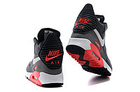 Зимние кроссовки Nike Air Max 90 Sneakerboot Black Red White (40-45), фото 4