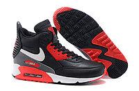 Зимние кроссовки Nikе Air Max 90 Sneakerboot Black Red White (40-45)