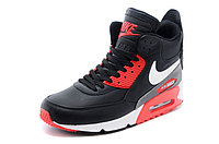 Зимние кроссовки Nike Air Max 90 Sneakerboot Black Red White (40-45), фото 2
