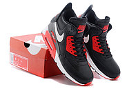 Зимние кроссовки Nike Air Max 90 Sneakerboot Black Red White (40-45), фото 5