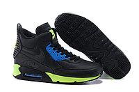Зимние кроссовки Nikе Air Max 90 Sneakerboot Black Blue Green (40-45)