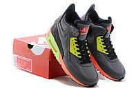 Зимние кроссовки Nikе Air Max 90 Sneakerboot Grey Lumigreen Carrot (40-45), фото 4