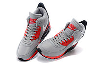Зимние кроссовки Nikе Air Max 90 Sneakerboot Grey Red Black (40-45), фото 3
