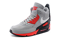 Зимние кроссовки Nikе Air Max 90 Sneakerboot Grey Red Black (40-45), фото 2