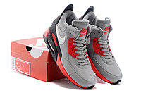 Зимние кроссовки Nikе Air Max 90 Sneakerboot Grey Red Black (40-45), фото 5