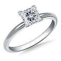 Сертификат GIA 0,50Сt H/VS2 EX Золотое 14K кольцо с бриллиантом , фото 1