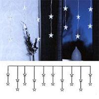 Гирлянда-занавес 1,8х0,4м светодиод. Звезды белые 20диодов 200623
