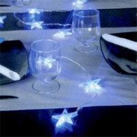 Гирлянда-цепочка 2м светодиод. Звезды голуб. 10диодов St 200616
