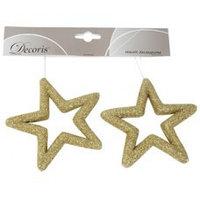 Декор Звезда золотая с блеском KA455641