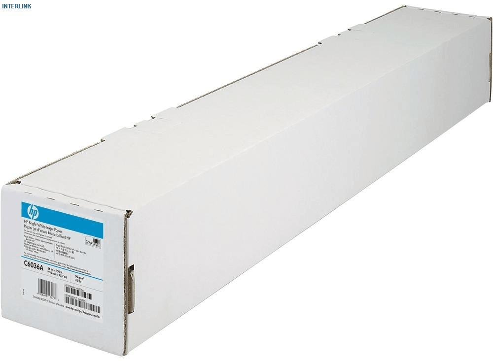 "Бумага для плоттера 36"" 914mm x 45.7m, 90гр/м2,  1 рул./уп. C6036A, HP"