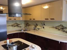 Кухонные фартуки из стекла - фото 9