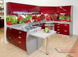 Фартуки из стекла для кухни - фото 6