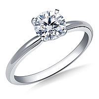 Сертификат GIA 0,25Сt D/IF EX Золотое 14K кольцо с бриллиантом , фото 1
