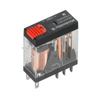 7760056343 DRI424524LT, Реле + LED+Кнопка, Количество контактов: 2, Номинальное напряжение: 24 В AC