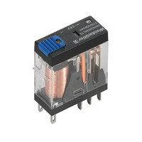 7760056339 DRI424012LTD, Реле + LED+Диод+Кнопка, Количество контактов: 2, Номинальное напряжение: 12 В DC