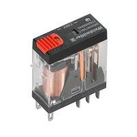7760056344 DRI424615LT, Реле + LED+Кнопка, Количество контактов: 2, Номинальное напряжение: 48 В AC