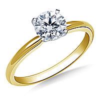 Сертификат GIA 0,23Сt I/SI1 EX Золотое 14K кольцо с бриллиантом , фото 1