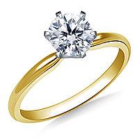 Сертификат GIA 0,25Сt I/VS1 EX Золотое 14K кольцо с бриллиантом