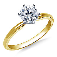 Сертификат GIA 0,30Сt I/SI2 VG Золотое 14K кольцо с бриллиантом , фото 1