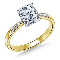 Сертификат GIA 0,31Сt I/VVS1 VG Золотое 14K кольцо с бриллиантом , фото 1