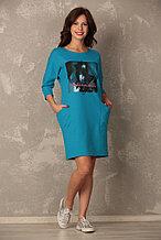 Женский халат - платье из теплого трикотажа. Россия