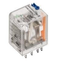 7760056072 DRM270220LT, Реле+LED+Тестовая кнопка, Количество контактов: 2, Номинальное напряжение: 220 В DC